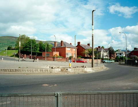 Roundabout, Andersonstown, Belfast 1984Troubled Land