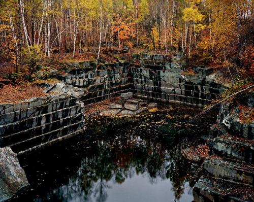 Cantera abandonada de granito, Rochester, Vermont, 1991.