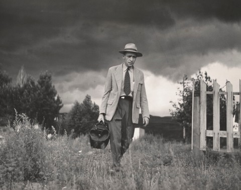 Smith W Eugeune Dr Ceriani Going from House to Hospital Country Doctor 1948 C The Heirs of W Eugene Smith courtesy Black Star